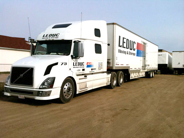 Leduc moving and Storage has a fleet of modern equipment waiting to move you where you need to go